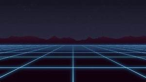 4k, Loop, Retro, Futuristic, Background, Footage, 1980s, Style