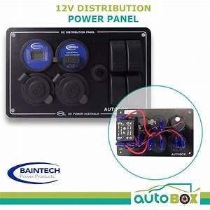 12v Dc Power Panel Battery Dual Ciga Usb Socket Voltmeter