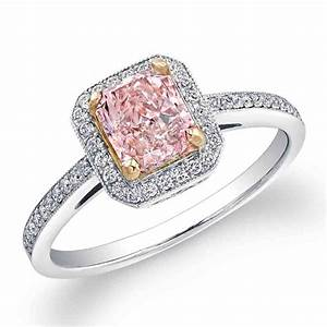 Natural pink diamond engagement rings wedding and bridal for Pink diamond wedding rings