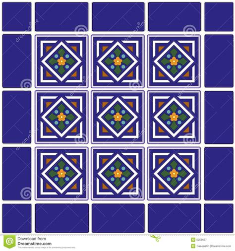 mexican ceramic tiles background stock vector image 5258637