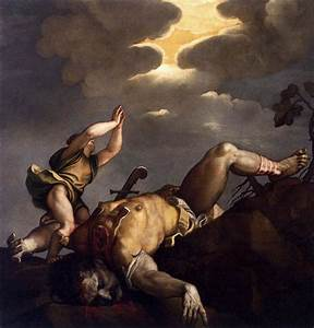 David and Goliath, 1542 - 1544 - Titian - WikiArt.org
