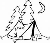 Tent Coloring Camping Sheet Colouring Printable sketch template