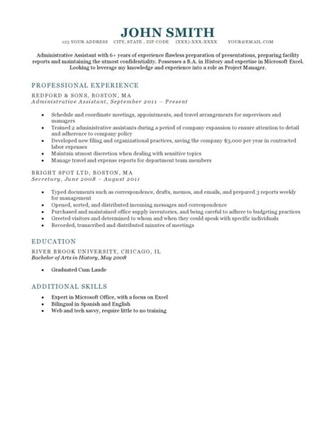 Resume Templae by Expert Preferred Resume Templates Resume Genius
