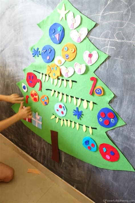 easy   diy felt christmas tree activity  kids