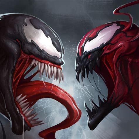 spiderman villains venom  carnage face  symbiotes
