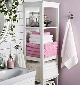Meuble Rangement Salle De Bain But : le rangement de salle de bains ~ Dallasstarsshop.com Idées de Décoration