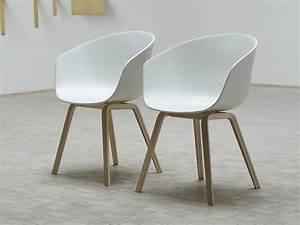 Chaise Blanche Et Bois : chaises blanc interesting salle manger de jardin en mtal ~ Nature-et-papiers.com Idées de Décoration