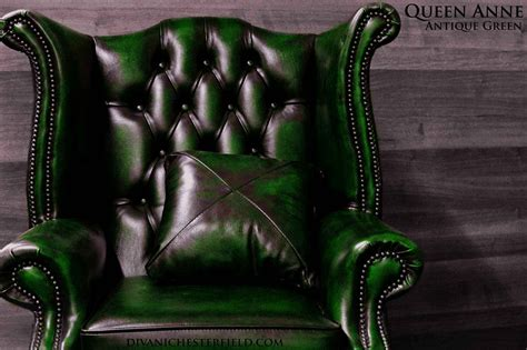Poltrona Chesterfield Queen Anne Chester In Pelle