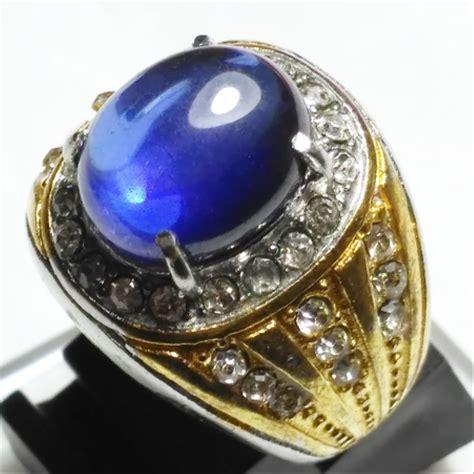 jual cincin batu akik king safir oval cobochon di lapak gudang akik gudang akik