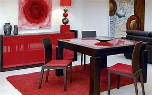 awesome salle a manger rouge et noir contemporary With salle a manger noir et rouge