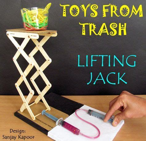 toys  trash diy hydraulic lift engineering activity