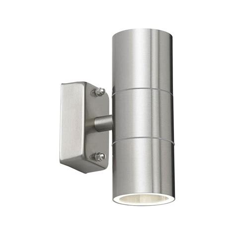 endon stainless steel outdoor wall light ip44 up