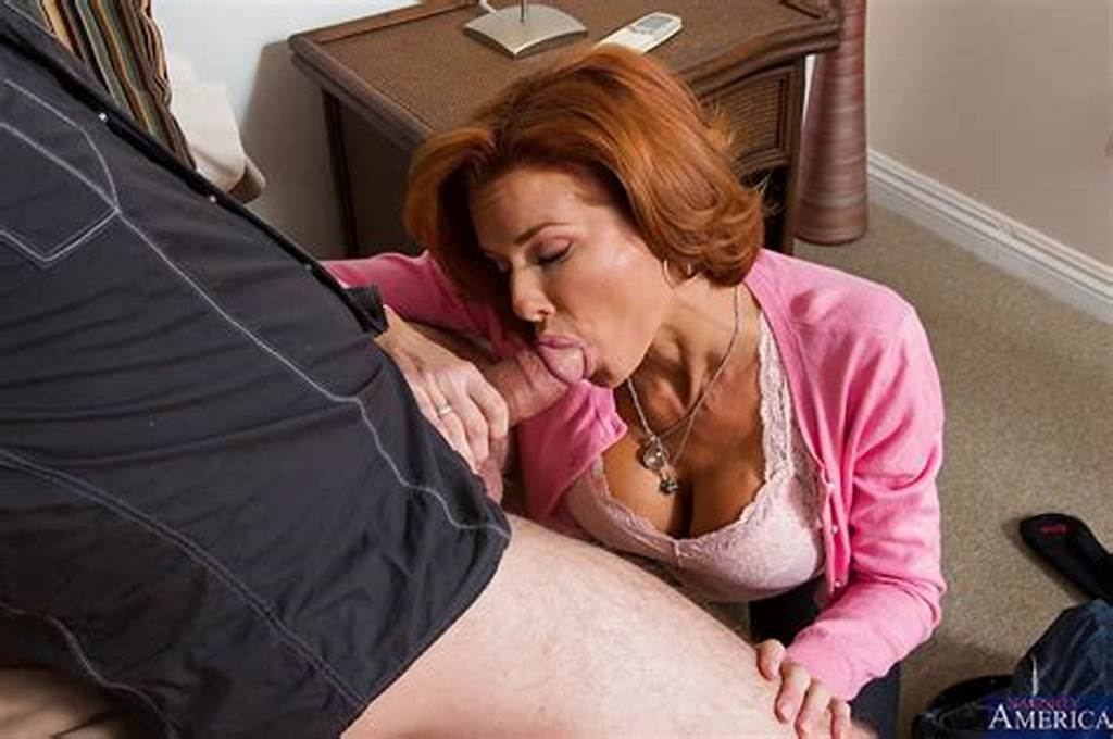 #Big #Busted #Redhead #Mom #Gives #Head #And #Gets #Her #Hungry