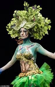 bizarre body art shown  barcelona beauty show daily