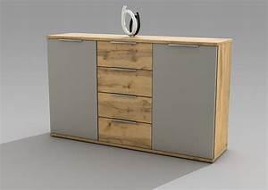 Suche Günstige Möbel : kommode capri sideboard wohnzimmer schlafzimmer flur wildeiche grau 150cm ebay ~ Indierocktalk.com Haus und Dekorationen