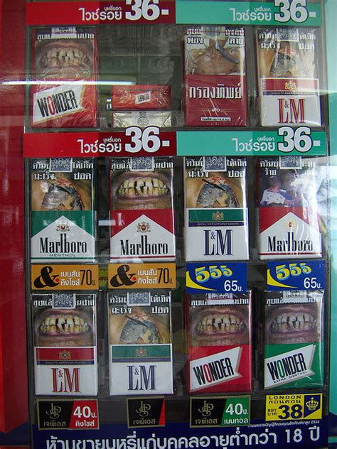cigarette warnings design  scary   ginva
