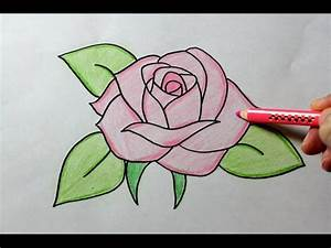 How to Draw a Rose - Easy Drawing Tutorial, My Crafts and ...