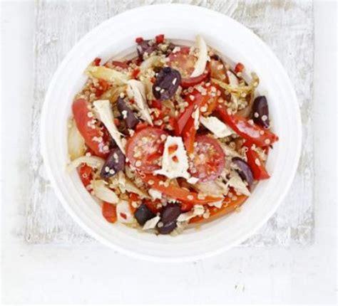 spicy tuna quinoa salad recipe bbc good food