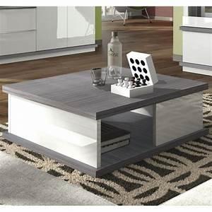 Table Basse Grise Pas Cher : table basse grise et blanche mobilier design d coration d 39 int rieur ~ Teatrodelosmanantiales.com Idées de Décoration