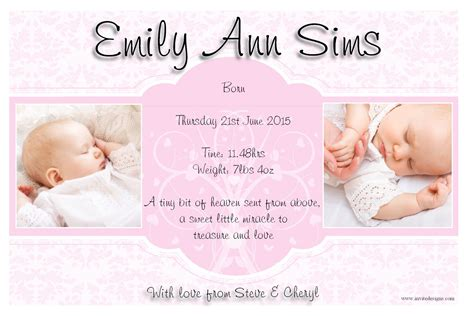 birth announcements quotes baby girl