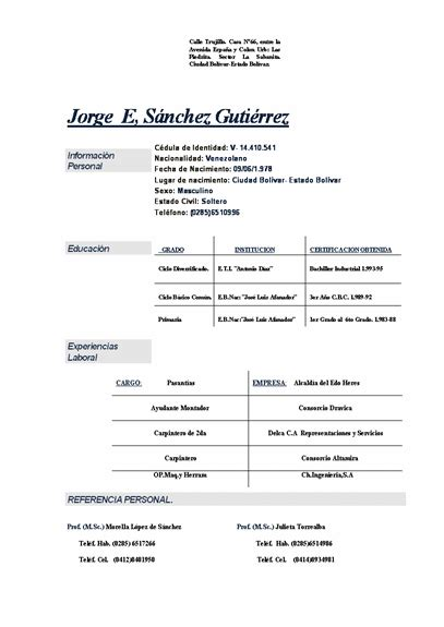 Formato De Resumen Curricular by Formato De Resumen Curricular Apexwallpapers