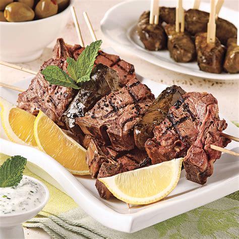 cuisine grecque recettes brochettes d 39 agneau à la grecque recettes cuisine et