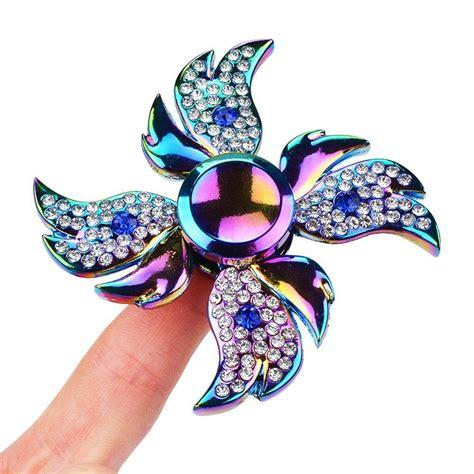 diamant finger diamant engelsfl 252 gel finger spinner rainbow stress reducer spinner fidget metall edc