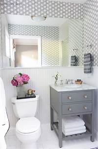 small bathroom makeovers My Secret Weapon for Wallpapering Your Bathroom! | Driven by Decor