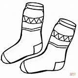 Coloring Socks Pages Kid Sock Printable Drawing Paper Puzzle Crafts Cartoons Clothing sketch template
