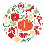 Nutrition Fruit Vegetable Clipart Icons Vector Vegetables