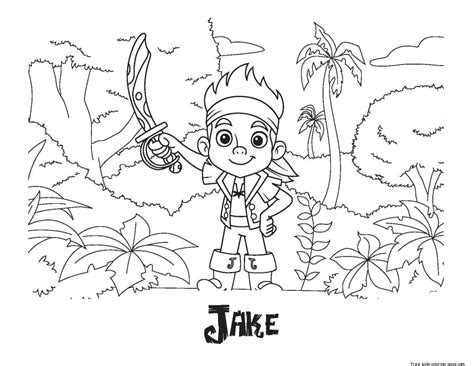 printable coloring pages  jake   neverland