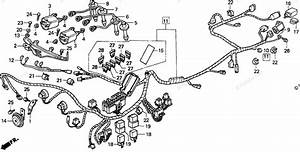 Honda Motorcycle 1995 Oem Parts Diagram For Wire Harness