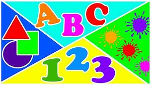 With abc numbers and letters