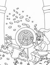 Rumpelstiltskin Coloring Pages Straw Gold Into Turning Template sketch template