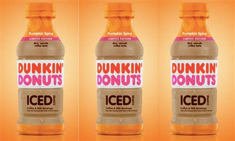 I finally realized they were added as much milk as they often, later in the day, after the coffee in the carafe is not so hot, i make these as a refreshing drink. Dunkin' Donuts' Pumpkin Spice Bottled Iced Coffee Is ...