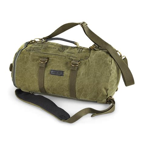 duffle bag heavy duty canvas duffle bag with leather trim 24 quot x 14 quot 660941 gear duffel bags at