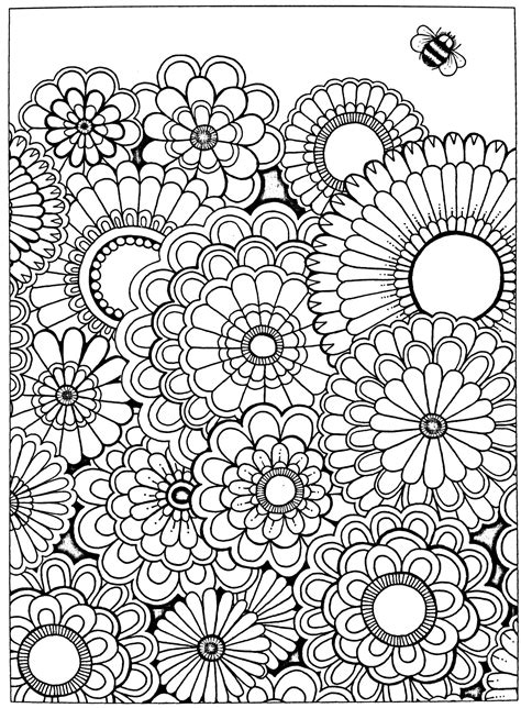 free adult coloring page secret garden coloring fantasy