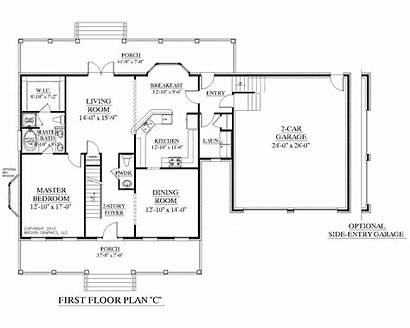 Floor Plan Plans Story Bedroom Master Downstairs