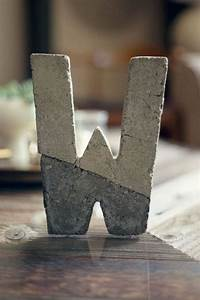 17 best images about concrete crafts diy on pinterest With hollow cardboard letters
