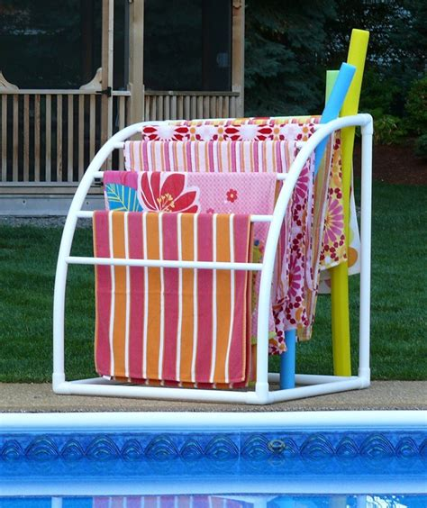 top  poolside towel racks   outdoor area