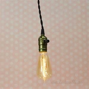 Single copper socket pendant light lamp cord kit w dimmer