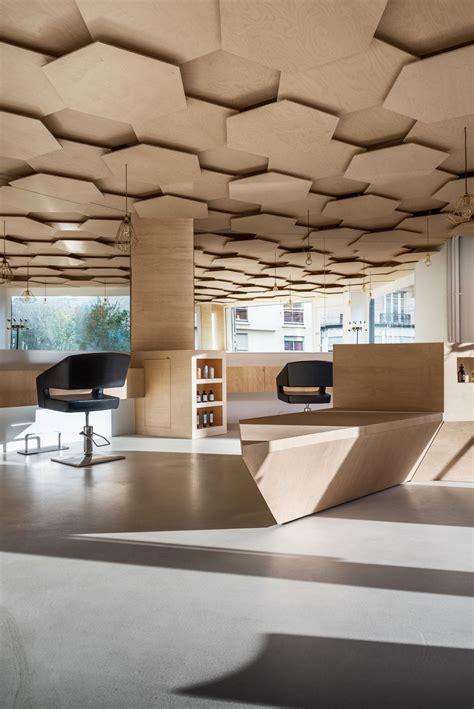 dezeen hexagonal patterned ceiling added  paris hair ceiling gypsum ceiling design false ceiling design false ceiling bedroom
