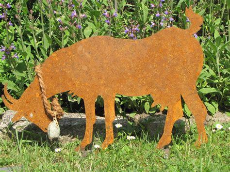 Ziege Gartendeko by Edelrost Ziege Auf Querstange Garden Dekoshop