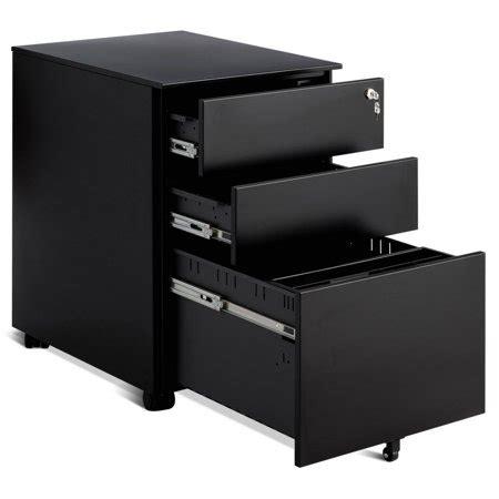 Lockable Pedestal Cabinets by Costway 3 Drawer Filing Cabinet Locking Pedestal