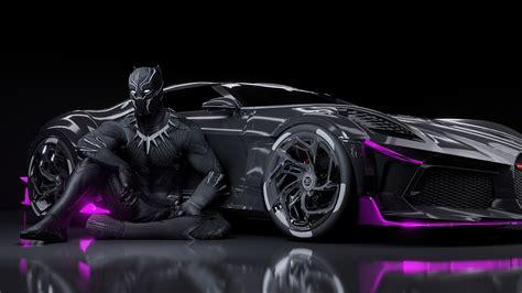Bugatti la voiture noire desktop wallpapers, hd backgrounds. 1920x1080 Black Panther Bugatti Chiron La Voiture Noire ...