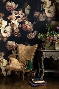 Papier Peint Fleuri Vintage : le papier peint en 52 photos pleines d 39 id es ~ Melissatoandfro.com Idées de Décoration