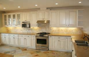 Off White Cabinets With Brown Glaze by Del Mar Cream Glaze Kitchen Cabinets Low Cost Kitchen