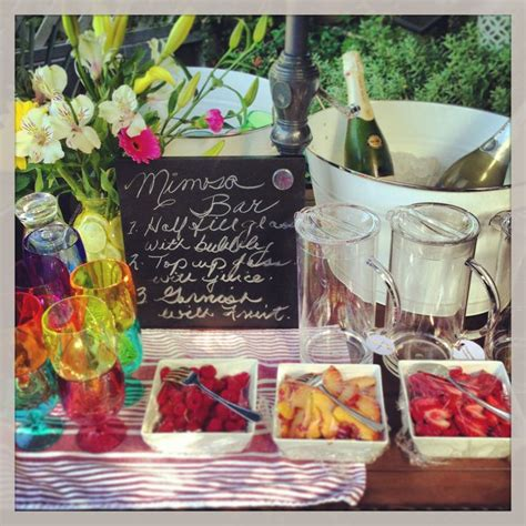 mimosa bar bridal shower mimosa bar for a bridal shower brunch mom osas pinterest buckets signs and berries