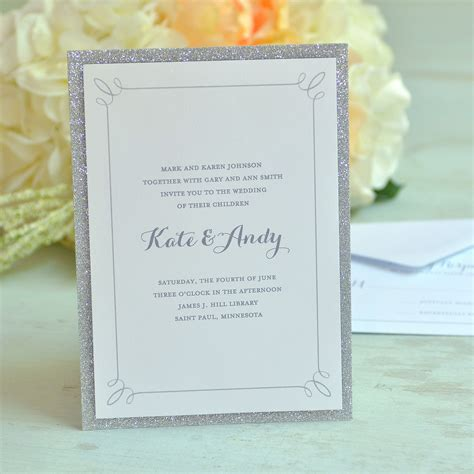 Arts Crafts & Sewing Glitter invitations Wedding