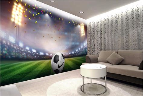 custom photo  room wallpaper football field background